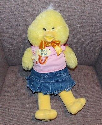abafa090b61 Build A Bear Workshop BABW Yellow Lucky Duck Plush Stuffed Animal Clothing  19