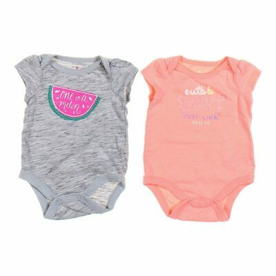 NIKE Baby Girls 3-pc Coral and Blue Bodysuits and Shorts Set 6//9M