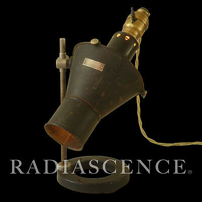Rare Spencer Lens Industrial Machine Age Optical Magnifier Spot Science Lab Lamp