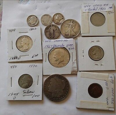 $2.96 Face Value Lot Of Old DIFFERENT US Minted Mixed  Junk! COINS ((M101))