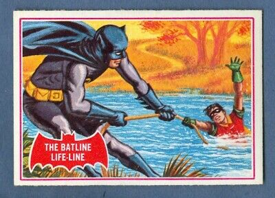 1966 Topps BATMAN (Red) #7A The Batline Life-Line *NearMint*