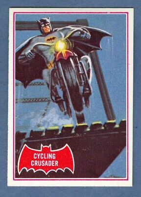 1966 Topps BATMAN (Red) #10A Cycling Crusader *NearMint*