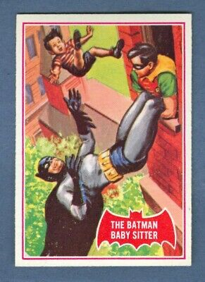 1966 Topps BATMAN (Red) #34A The Batman Baby Sitter *NearMint*