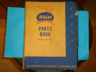 1950's White WC 20T Truck Parts Book W/ Illustrations