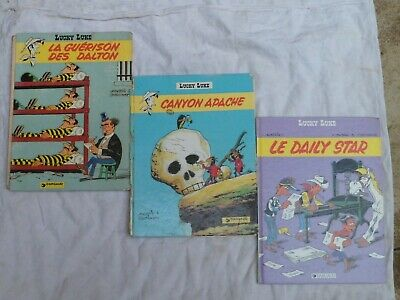 Lucky Luke , lot de 3 anciennes bandes dessinées - Dargaud