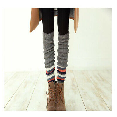 Leg Warmers Leggings Crochet Winter Knee High Knit Boot Warmer Socks S