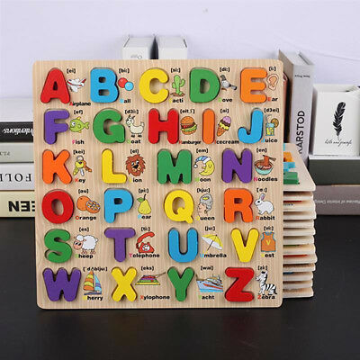 Kids Children Wooden Alphabet ABC Jigsaw Puzzle  Learning Educational Toy Z
