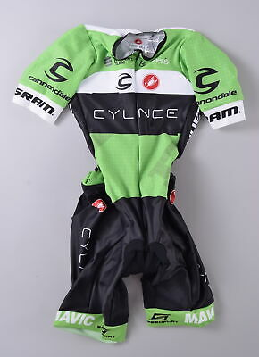Cylance Pro Cycling Team Castelli Speedsuit Womens Small Short Sleeve Skin  Suit bf83f63f7