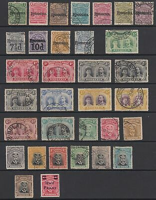 Rhodesia 1909 - 1924 collection, 33 stamps