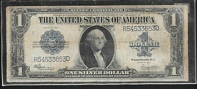 Series Of 1923 Circulated Large Size $1 Silver Certificate R54533653D