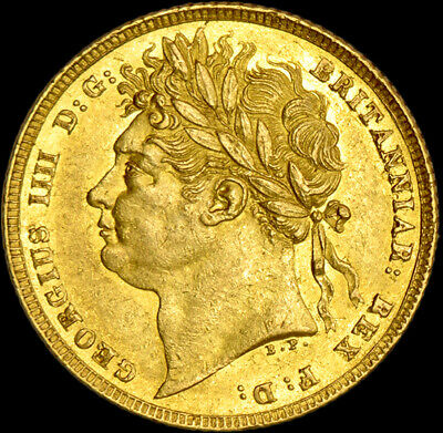 FANTASTIC KING GEORGE THE IIII 1821 GOLD SOVEREIGN about Uncirculated Condition.
