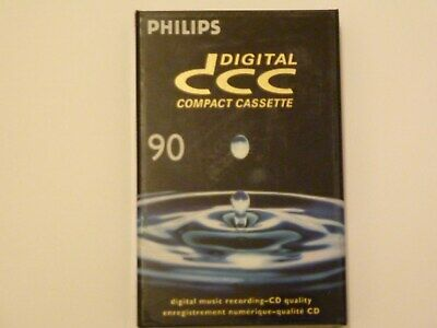 DCC Philips 90 minute brand new and sealed blank Digital Compact Cassette drops