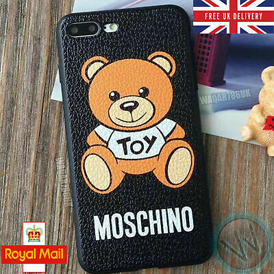 FASHION TEDDY BEAR TOY  Logo Moschino Phone Case Cover for iPhone
