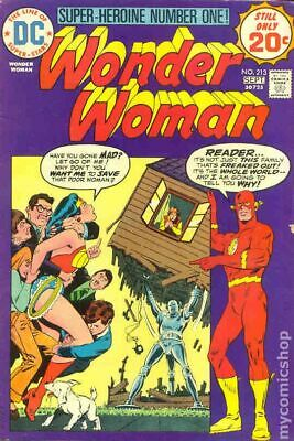 Wonder Woman (1st Series DC) #213 1974 VG/FN 5.0 Stock Image Low Grade