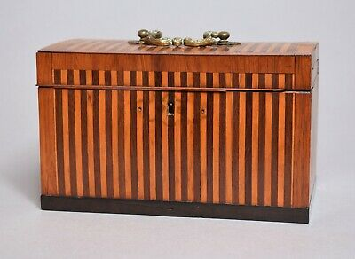 A Wonderful Antique 19Thc Inlaid Marquetry Banded Tea Caddy