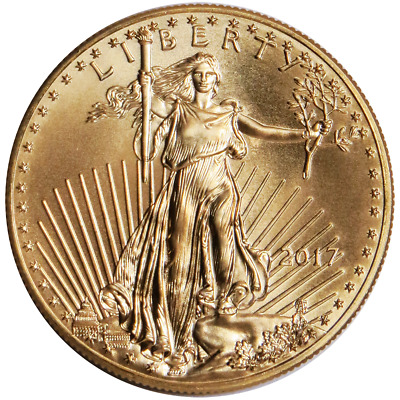 2017 $5 American Gold Eagle 1/10 oz Brilliant Uncirculated