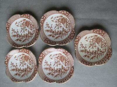 Set Of 5 Small Aesthetic Period Plates / Saucers
