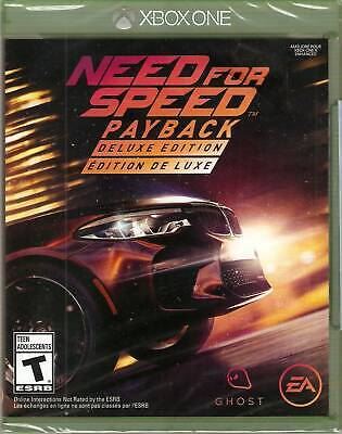Need for Speed Payback: Deluxe Edition Xbox One Brand New Factory Sealed Game