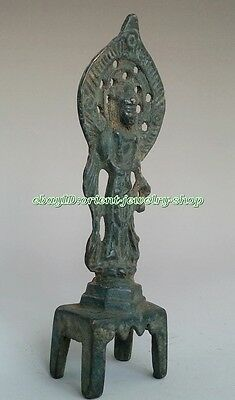 antique excellent Old Chinese Bronze Buddha Statue