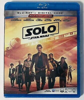 Solo: A Star Wars Story ( Blu-ray+Digital Code ) BRAND NEW FACTORY SEALED