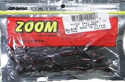 """Zoom 002-003 Electric Blue Lizard 6/"""" Soft Plastic Fishing Lure 9 Pack"""