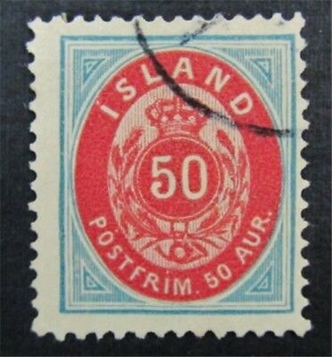nystamps Iceland Stamp # 20 Used $175