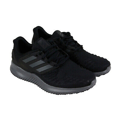 8abc24e3cb1b3 Adidas Alphabounce Rc Mens Black Textile Athletic Lace Up Running Shoes