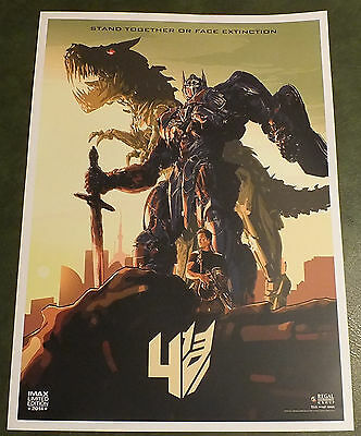 Transformers: Age of Extinction Movie Promo Poster IMAX Limited Edition - 18x24