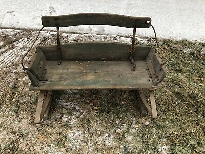 Amazing Antique Horse Sleigh Buckboard Carriage Bench Seat With Inzonedesignstudio Interior Chair Design Inzonedesignstudiocom