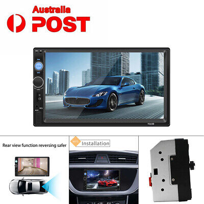 7 Inch Double 2DIN Car FM Stereo Radio USB/MP5 Player Touch Screen Bluetooth New