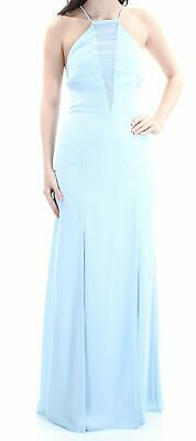 fff22adfc6 Fame And Partners NEW Blue Women s Size 8 US 4 Lace-Up Gown Dress  229