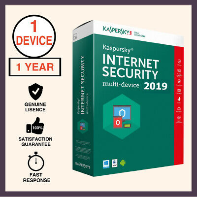 Kaspersky Internet Security Antivirus 2019 1 PC 1 Year For Windows