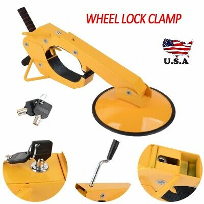 Wheel Tire Boot Lock Clamp Claw For Car RV Boat Truck Trailer Anti Theft