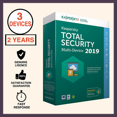 Kaspersky Total Security Antivirus 2019 3 PC Device 2 Year - Windows MAC Android