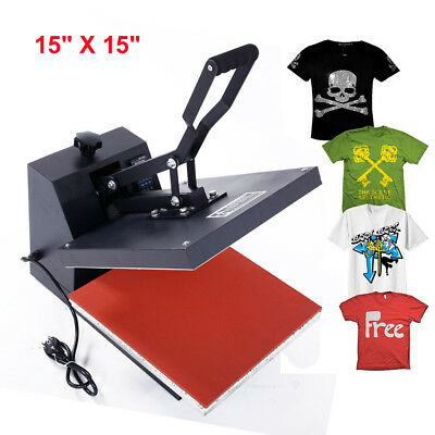 Hot Clamshell Digital Heat Press Machine T-shirt Transfer Sublimation DIY New