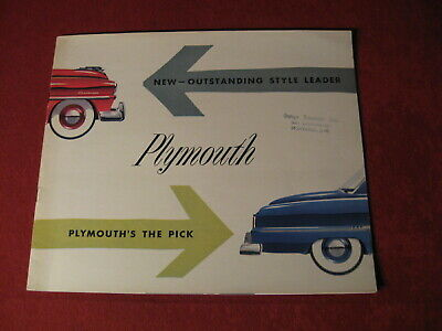1953 Plymouth Canada Sales Showroom Dealership Brochure Booklet Catalog Old