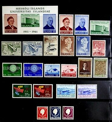 Iceland: 1959-63 Mint Never Hinged Stamp Collection Of Sets