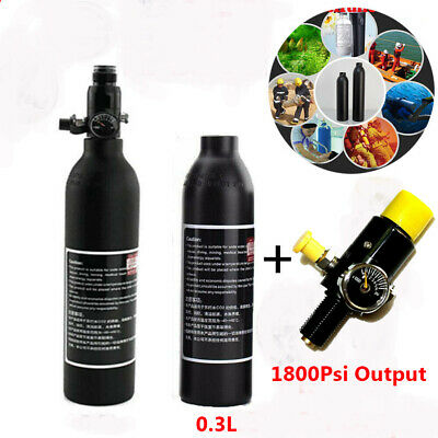 Paintball PCP Tank 4500psi 0.3L High Compressed Air Bottle W/1800Psi Regulator
