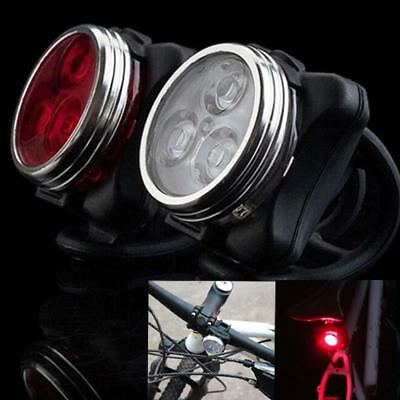 Bicycle Cycling Bike Head Front Rear Tail 3 LED light USB Rechargeable 4 mode ED