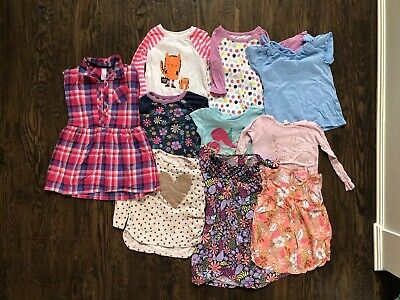 Lot Of Girls Clothes Size 4-5 XS - 10 Pieces Cat & Jack Spring Summer Fall