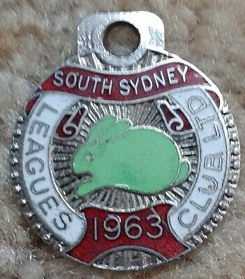 South Sydney Rugby League Badge dated 1963 Angus and Coote Member 2000