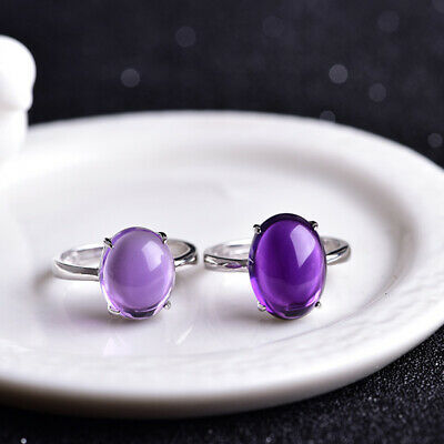 925 Sterling Silver Handmade Jewelry Uruguay Amethyst Ladie's Ring Gift For Girl
