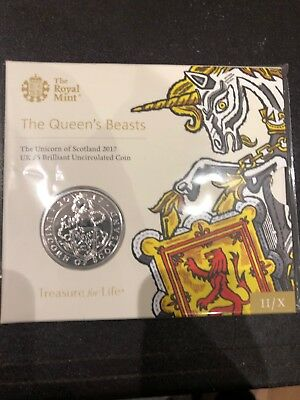 Queens Beast Unicorn Of Scotland £5 Coin
