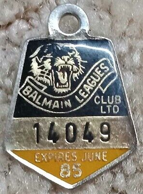 Balmain Rugby League Badge dated June 1985
