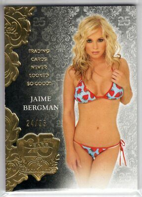 2019 Benchwarmer 25 Years JAIME BERGMAN #12 Gold Foil PREMIUM BASE CARD 24/25