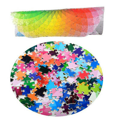 Round Gradient Puzzle, Colorful Rainbow Jigsaw Puzzles  Puzzle Game Toy Z