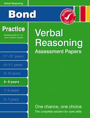 Bond Second Papers in Verbal Reasoning 8-9 Years (Bond Assessment Papers)-J M B
