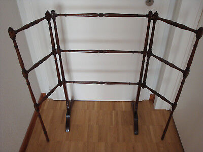 Regency towel rail, mahogany, 1815