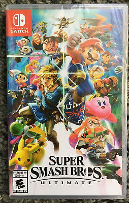 Super Smash Bros. Ultimate Video Game for Nintendo Switch System New Sealed
