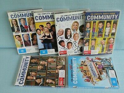 Community Complete Series 1 To 6 Dvd Tv Joel Mchale Ken Jeong Chevy Chase 5 4 3